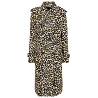 Marc Jacobs trench di jeans a stampa leopardata