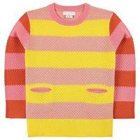 Stella McCartney Kids - swiggle maglione rigata e fatta a maglia rosa 14 anni