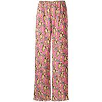 MSGM pantaloni a fiori - rosa