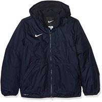 Nike team fall jacket youth, giacca sportiva unisex per bambini, obsidian/dark obsidian/(white), l