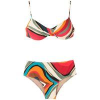 Lygia & Nanny set bikini verônica con stampa - multicolore