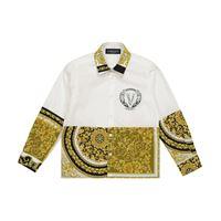 Versace Kids camicia a stampa in cotone