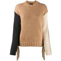Alanui maglione con frange - marrone
