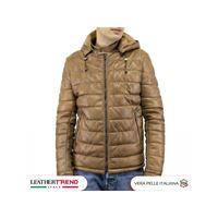 Leather Trend Italy berlino - piumino uomo artigianale in vera pelle cuoio invecchiato