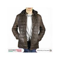 Leather Trend Italy berlino - piumino uomo artigianale in vera pelle testa di moro