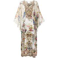 Camilla vestito a fiori - bianco