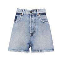 Miu Miu shorts denim a vita alta - blu