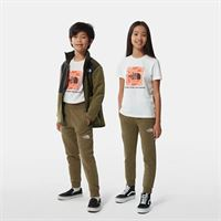 TheNorthFace the north face pantaloni felpati bambini new taupe green/tnf white taglia m donna