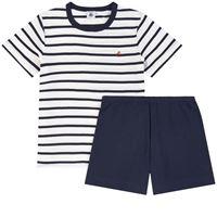 Petit Bateau - bambino - pigiama 2 pezzi a righe - 3 anni - ecru - avorio