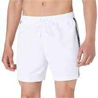 Calvin Klein medium drawstring costume a pantaloncino, pvh classic bianco, l uomo