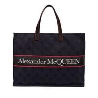 Alexander McQueen borsa tote east west - blu