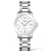 Longines orologio da donna Longines conquest con quadrante bianco e bracciale in acciaio