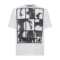 JUNYA WATANABE t-shirt in jersey di cotone stampato