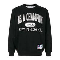 Supreme felpa champion stay in school - nero