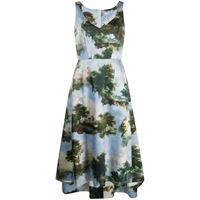 COMME DES GARÇONS vestito donna geo0120511 cotone azzurro