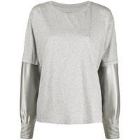 MM6 Maison Margiela t-shirt a maniche lunghe - grigio