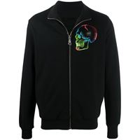 Philipp Plein giacca sportiva con ricamo - nero