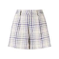 Isabel Marant Étoile shorts a quadri - toni neutri