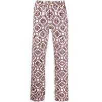 Casablanca jeans dritti con stampa - bianco