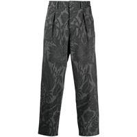 Pierre-Louis Mascia pantaloni con motivo a fiori - grigio
