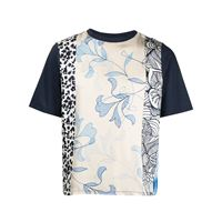 Pierre-Louis Mascia t-shirt aloe con stampa - blu