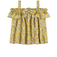 Mayoral - bambina - cold shoulder top color senape - 6 anni - giallo