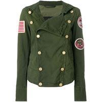 Mr & Mrs Italy giacca aderente doppiopetto - verde