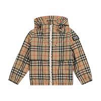 Burberry Kids giacca a quadri in tessuto tecnico