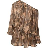 Dion Lee abito corto camouflage - marrone
