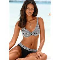 s.Oliver Beachwear LM bikini con ferretto in fantasia grafica