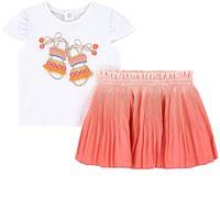 Mayoral - bambina - sandal print set gonna rosa - 24 mesi - rosa