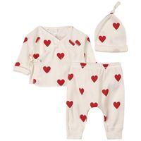 Petit Bateau - heart print baby set bianco - bambina - 6 mesi - bianco