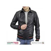 Leather Trend Italy positano - bomber uomo in pelle di agnello italiana effetto vintage