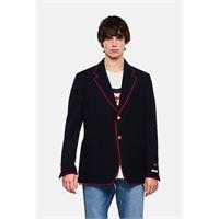 Gucci giacca in jersey di cotone e lana con patch