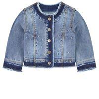 Mayoral - bambina - giacca denim blu - 9 mesi - blu