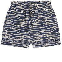Les Coyotes De Paris bambini - bambina - tropea floral waves print pantaloncino blu - 12 anni - blu