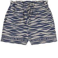 Les Coyotes De Paris bambini - bambina - tropea floral waves print pantaloncino blu - 14 anni - blu