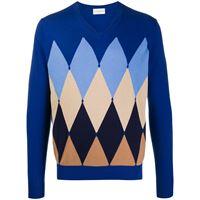 Ballantyne maglione a rombi - blu