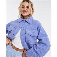 Monki - hazel - camicia giacca azzurra-blu