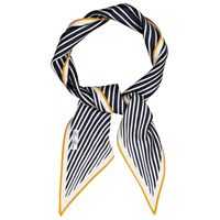 Loro Piana foulard lerins a righe in seta