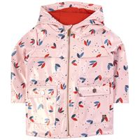 Carrément Beau - impermeabile stampato rosa pallido - bambina - 12 mesi - rosa