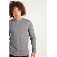 Tezenis maglia manica lunga cotone uomo grigio