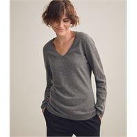 Falconeri maglia scollo v in cashmere ultrasoft grigio