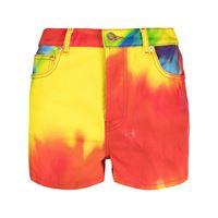 Alexandre Vauthier shorts denim con fantasia tie-dye - rosso