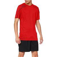 uhlsport stream 22 kurzarm, maglietta bambini, rosso/nero, 128