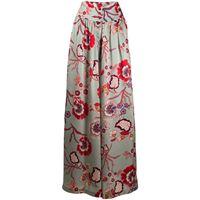 FAITH CONNEXION pantaloni palazzo a fiori donna