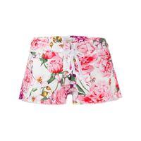 LANEUS shorts denim a fiori donna