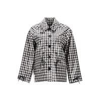 BARBOUR by ALEXA CHUNG giacca minnie vichy 6 bianco, nero