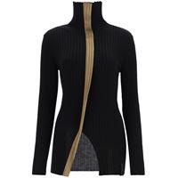 2 MONCLER 1952 maglia dolcevita ciclista tricot 2 MONCLER m nero, marrone lana
