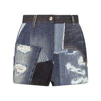 Dolce & Gabbana shorts denim effetto vissuto - blu